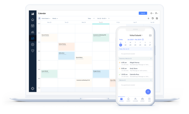 Setmore Termin App für Desktop und mobil