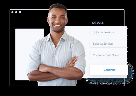 página de reservas online com base web setmore