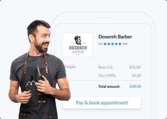 uma página de marcações setmore de barbearia