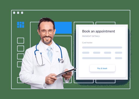 um médico com a sua consulta