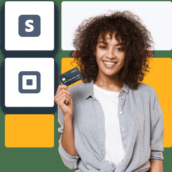 uma senhora titular de um cartão de crédito