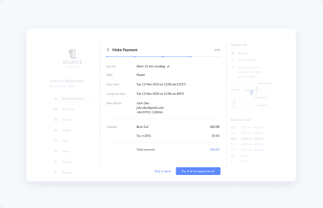 booking page apps and integrations