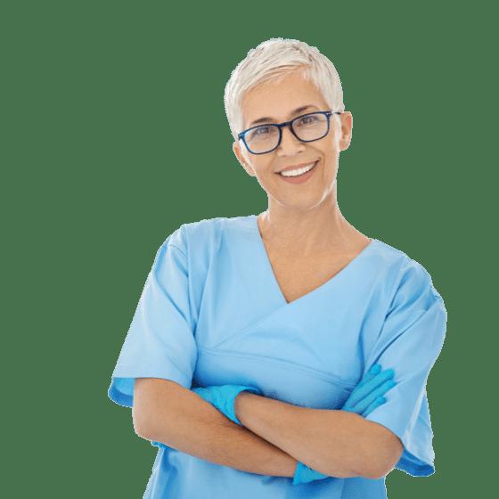 Um dentista que utiliza um software de marcação de consultas