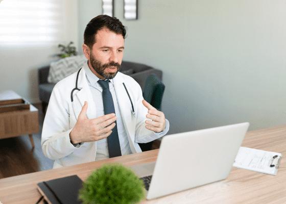 Consultoría médica virtualmente