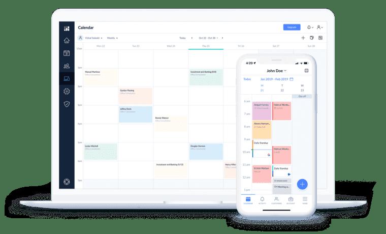calendar page desktop mobile