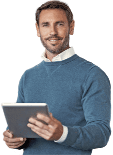 cliente setmore con un ipad