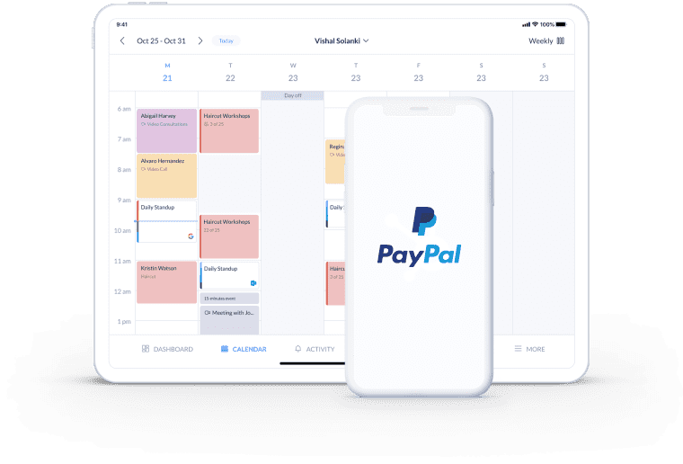 get paid with setmore paypal booking