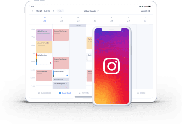 setmore booking page integration with instagram