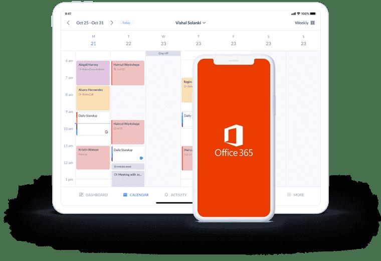 integración de la página de reservas de setmore con Office 365